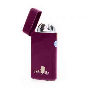 Deep Magenta Double Arch USB Rechargeable Lighter EL-0205PLED