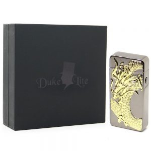 Gold Dragon Double Arc USB Rechargeable Lighter