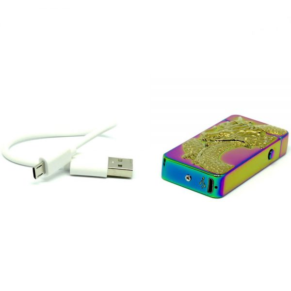Rainbow Dragon Double Arc Usb Rechargeable Lighter